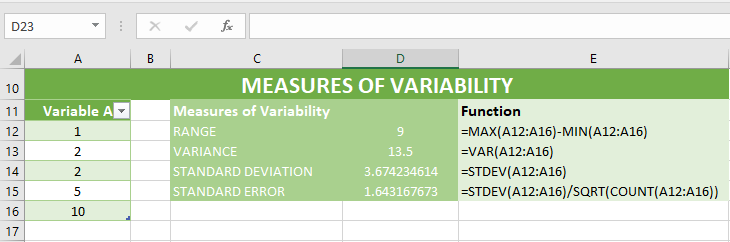 Excel_variability